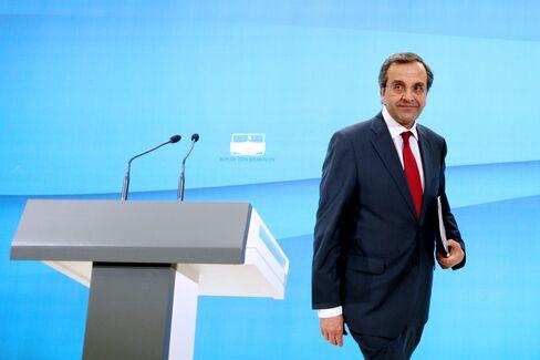 Samaras Seeks Greek Unity on Cuts After Career Stoking Division