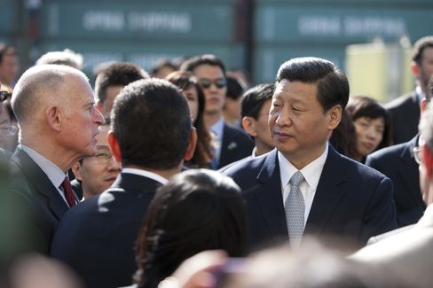 China's Vice President Xi, California's Governor Brown