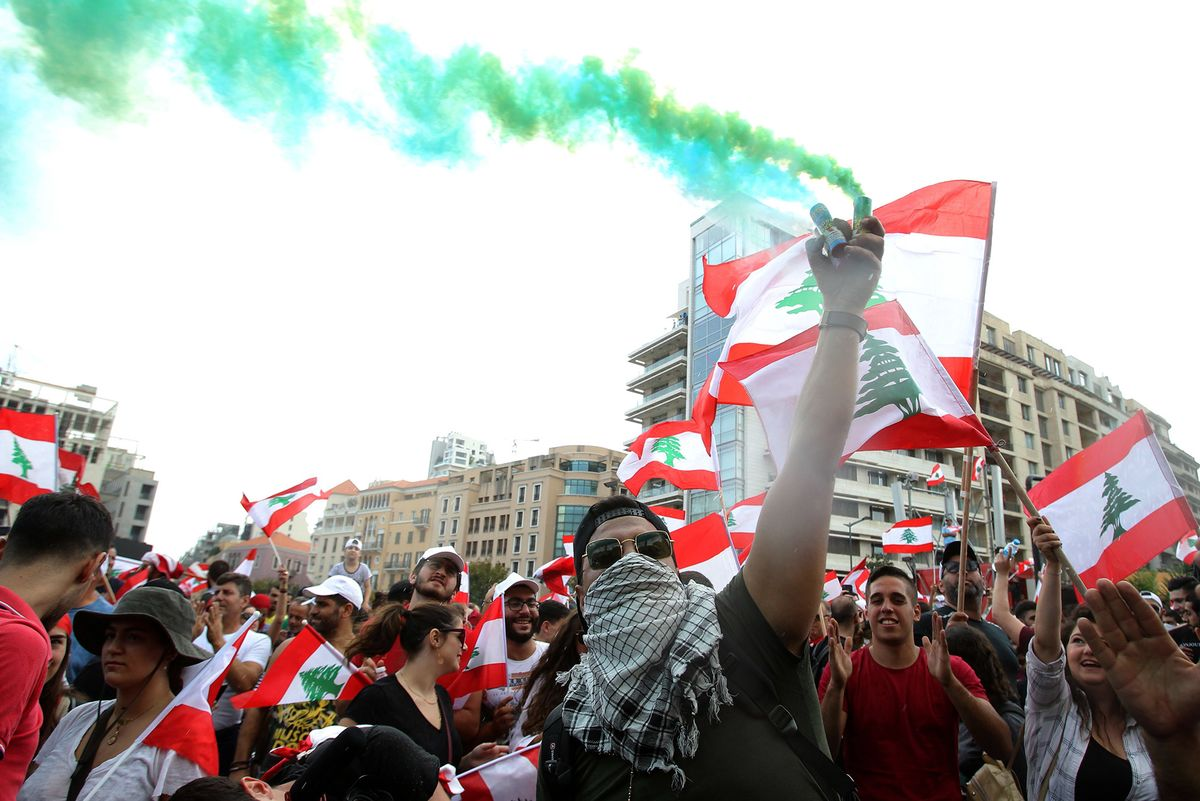 Impromptu Raves and Other Offbeat Moments From Lebanon's Revolt