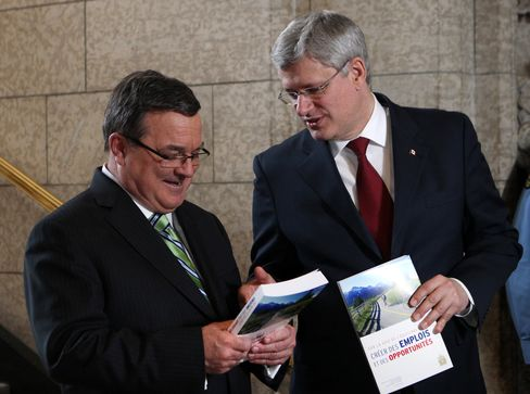 Canada's Finance Minister Jim Flaherty & PM Stephen Harper