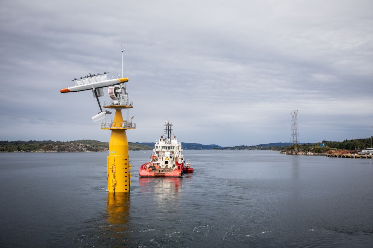 Flying Wind Turbines Make Their First Trip Offshore in Norway