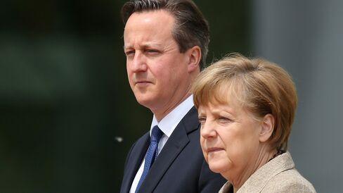David Cameron Meets With Angela Merkel In Berlin