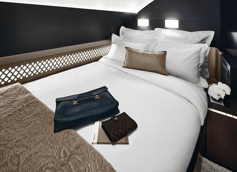 The Residence bedroom onboard an Etihad Airways Airbus A380.