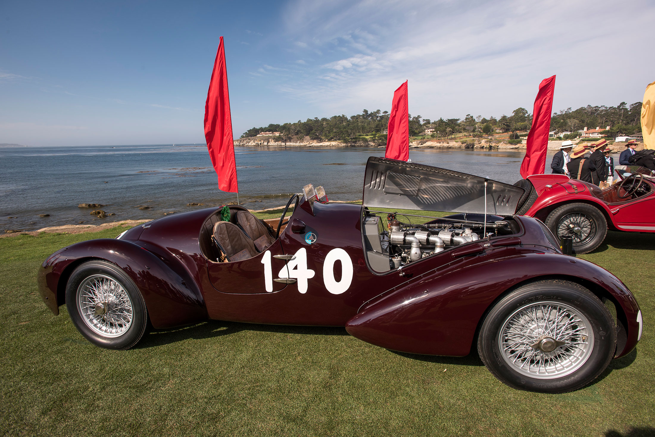 A 1938 Alfa Romeo 6C 2300 B MM Touring Style Spider Corsa at Pebble Beach
