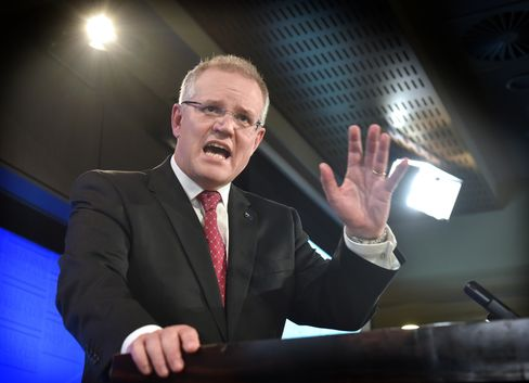 Australian Treasurer Scott Morrison Addresses The National Press Club