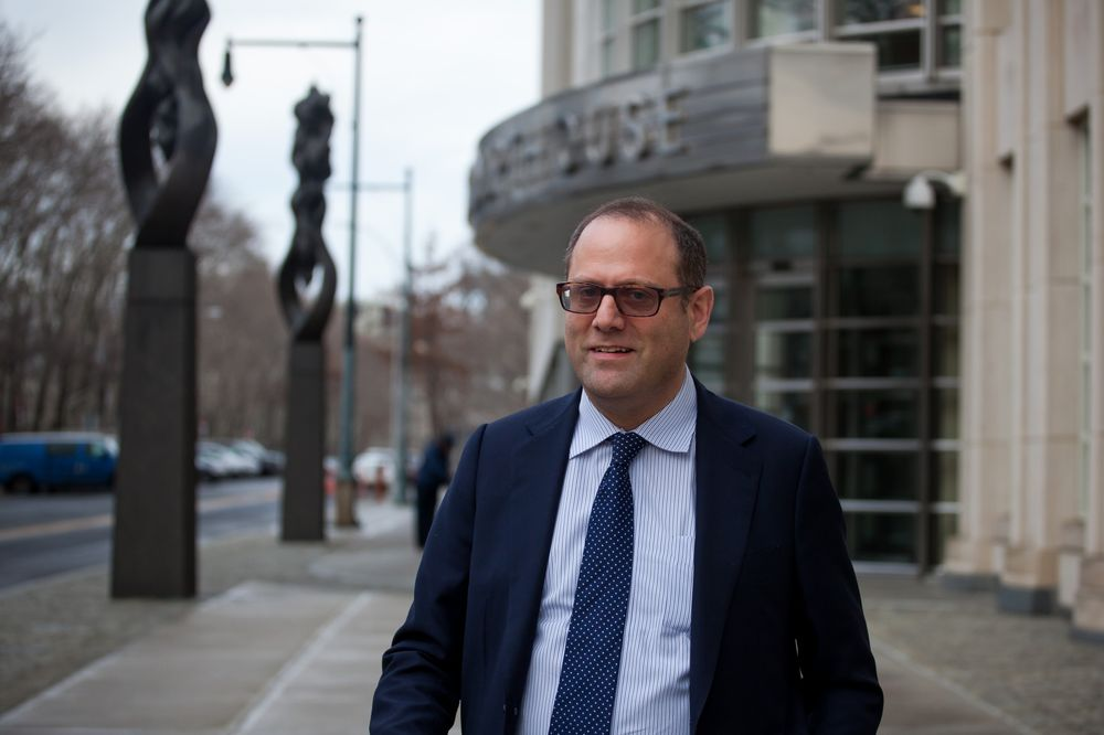 Mark Nordlicht, co-founder of Platinum Partners LLP, exits federal court in the Brooklyn,New York in 2017.