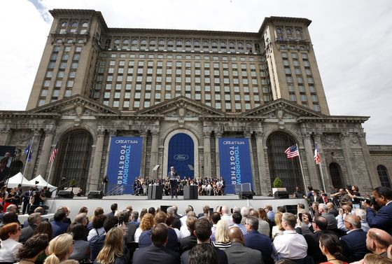 Ford Bets Detroit Eyesore Can Transform Into Tech Talent Magnet