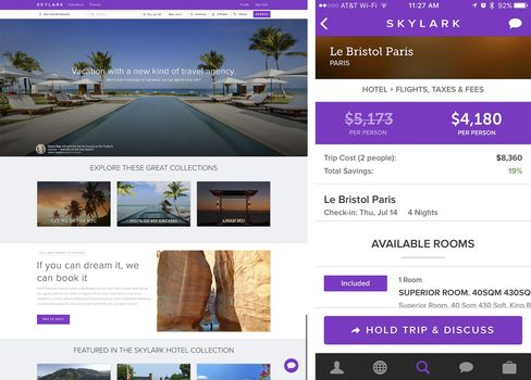 Skylark's package deals can be booked online or via an app.