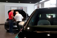 Volkswagen AG Electric Automobile Showroom as Company Reworks U.S. Strategy
