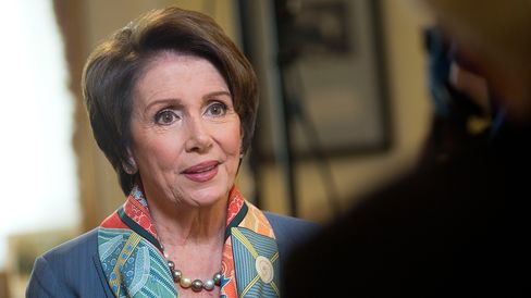 House Minority Leader Nancy Pelosi, a Democrat from California, speaks during a Bloomberg Television interview in Washington, D.C., U.S., on Friday, May 30, 2014.