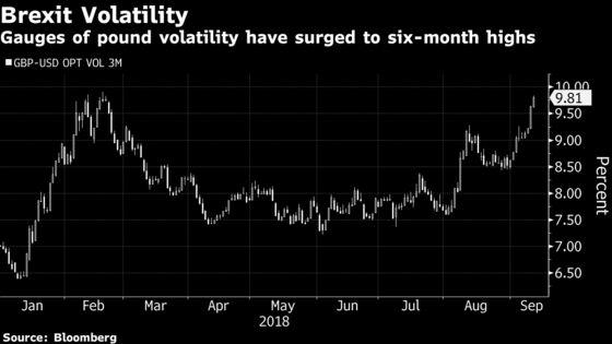 Pound Struggles in Volatile Trade on Myriad of Brexit Headlines