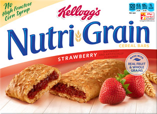 Kellog's strawberry Nutri-Grain bars