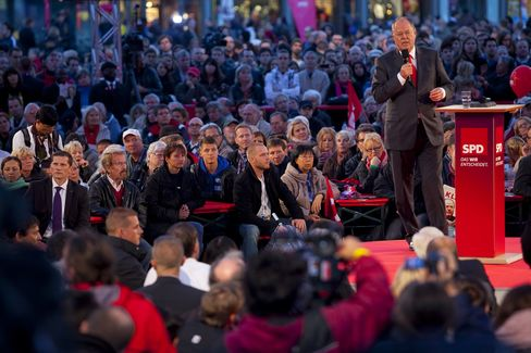 SPD Cadidate for German Chancellor Peer Steinbrueck
