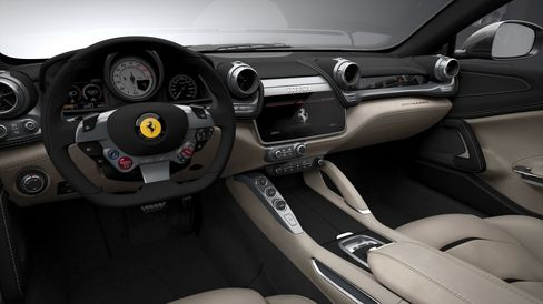 The media center in the GTC4 Lusso.