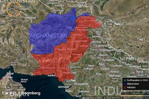 MAP: Afghanistan Earthquake