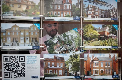 U.K. Home Prices Post First Drop in Four Months