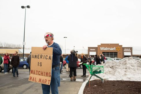 Gun control advocates protest outside Wal-Mart