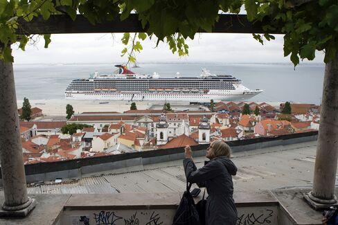 Carnival Cruise Ship in Lisbon