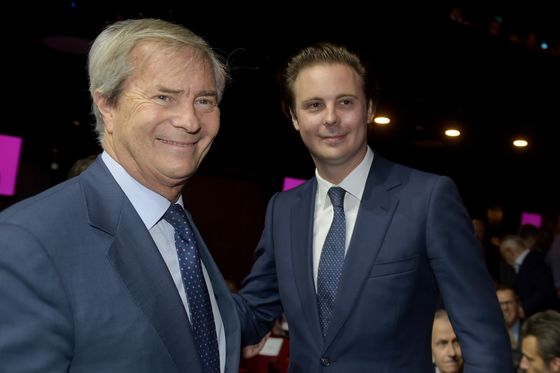 Billionaire Bollore Hands Reins of Empire to Son Cyrille
