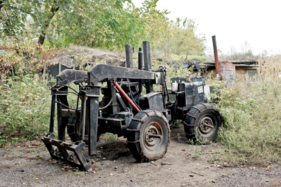 A second-generation Life Trac tractor, built on the premises