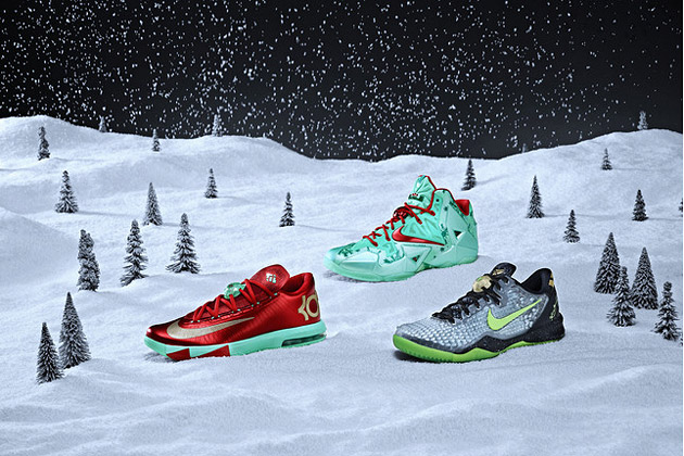 Nike Launches Christmas-Themed Shoes for Kobe, LeBron, and Durant ...