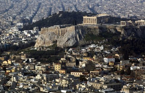 The Parthenon and Athens city centre