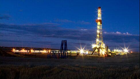 Drilling Rig in the Bakken Formation