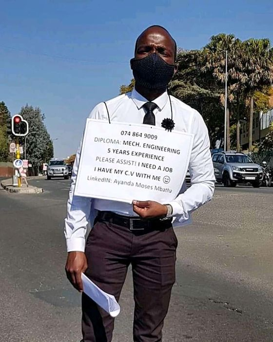 Skilled Workers Seek Jobs on the Streets of South Africa