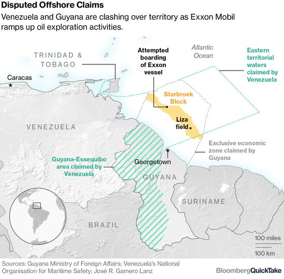 Venezuela Plans to Remap Its Offshore Oil Territory, Escalating Tension With Exxon