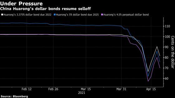 Huarong Bonds Drop After Report Regulators Consider Restructuring