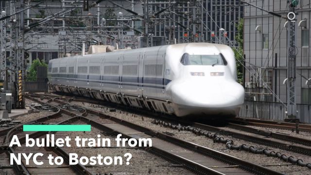 A bullet train from NYC to Boston
