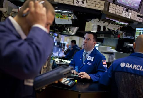 Stocks Drop as Treasury Yields Slip