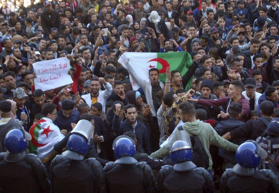 A Term Too Many: Protesters Tell Algerian Leader It's Time to Go