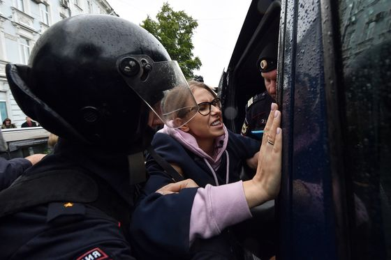 Anti-Putin Leader Detained as Russians Hold New Election Protest