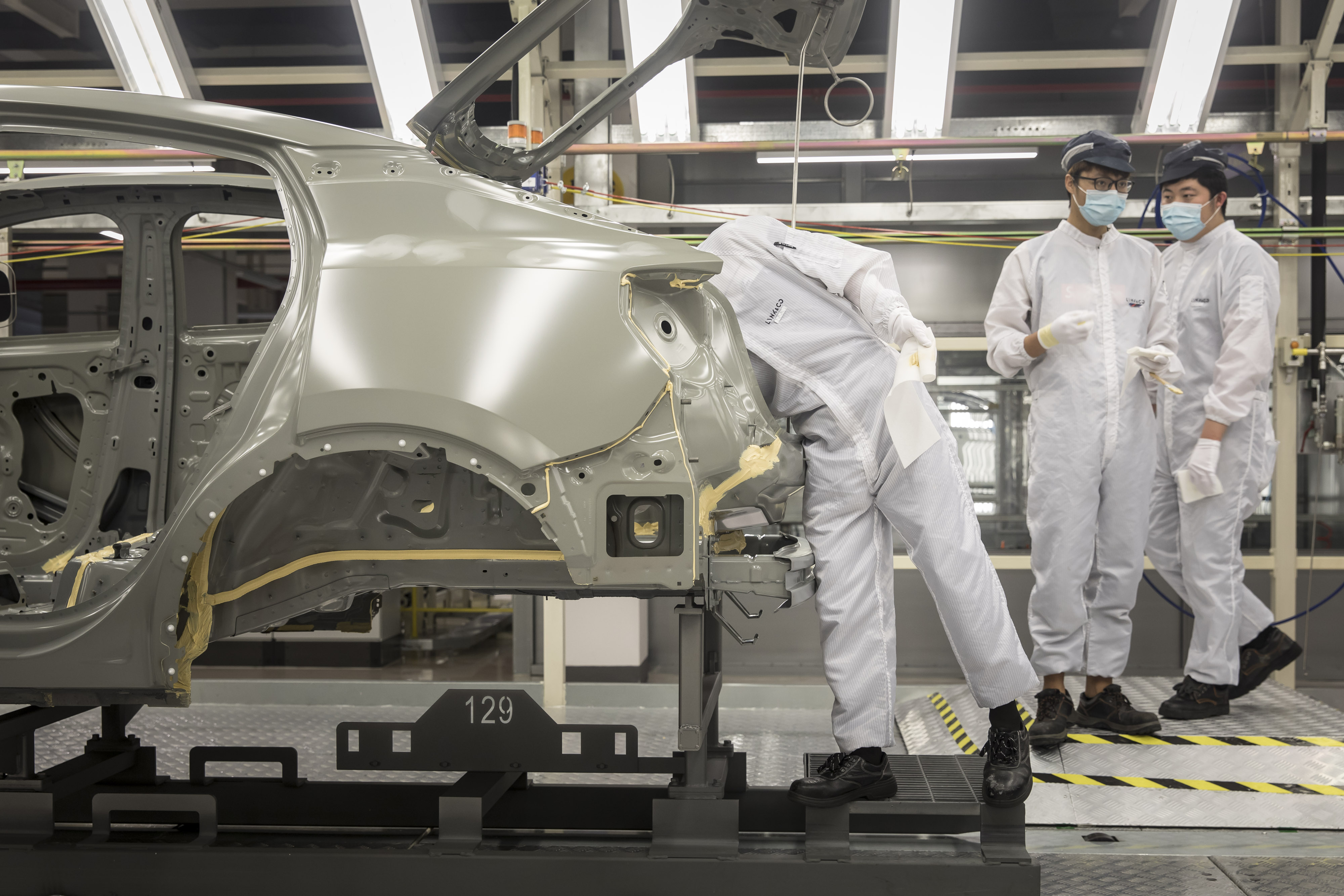 Manufacturing Inside A Geely Automobile Holdings Ltd. Plant Ahead of China PMI Data