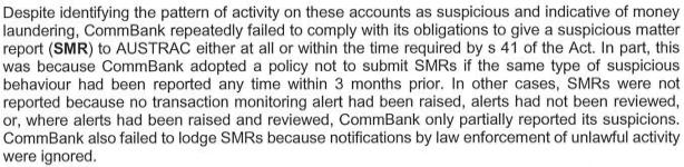 Excerpt from Austrac statement