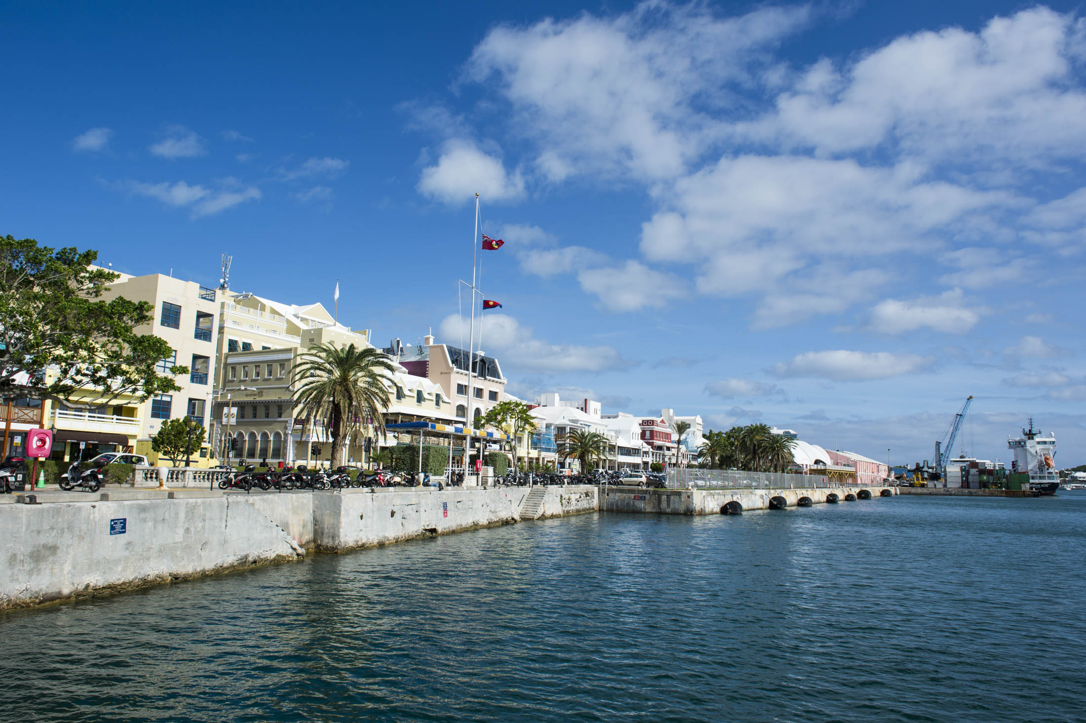 Historical seafront of Hamilton capital of, Bermuda, United Kingdom