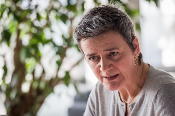 Vestager Backs 'Intrusive' Rules as EU Targets Chinese Firms