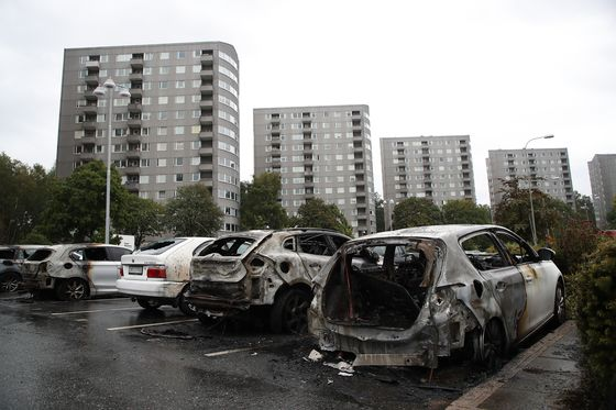 Youths Burn More Than 80 Carsin Southern Sweden Overnight