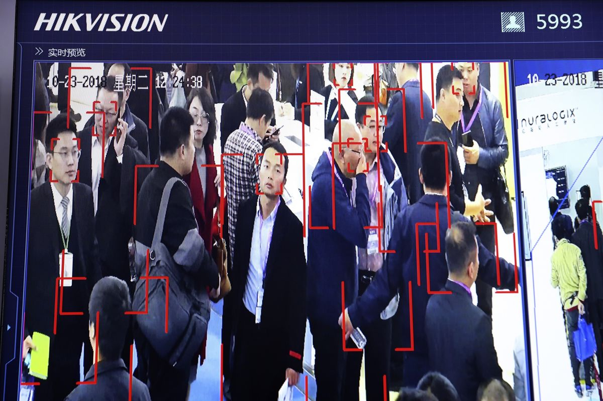 Hikvision's human identification technology demonstration, Oct. 2018.