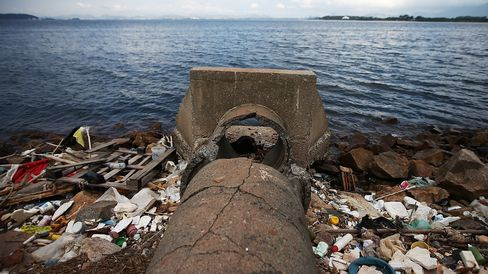 The Polluted Guanabara Bay