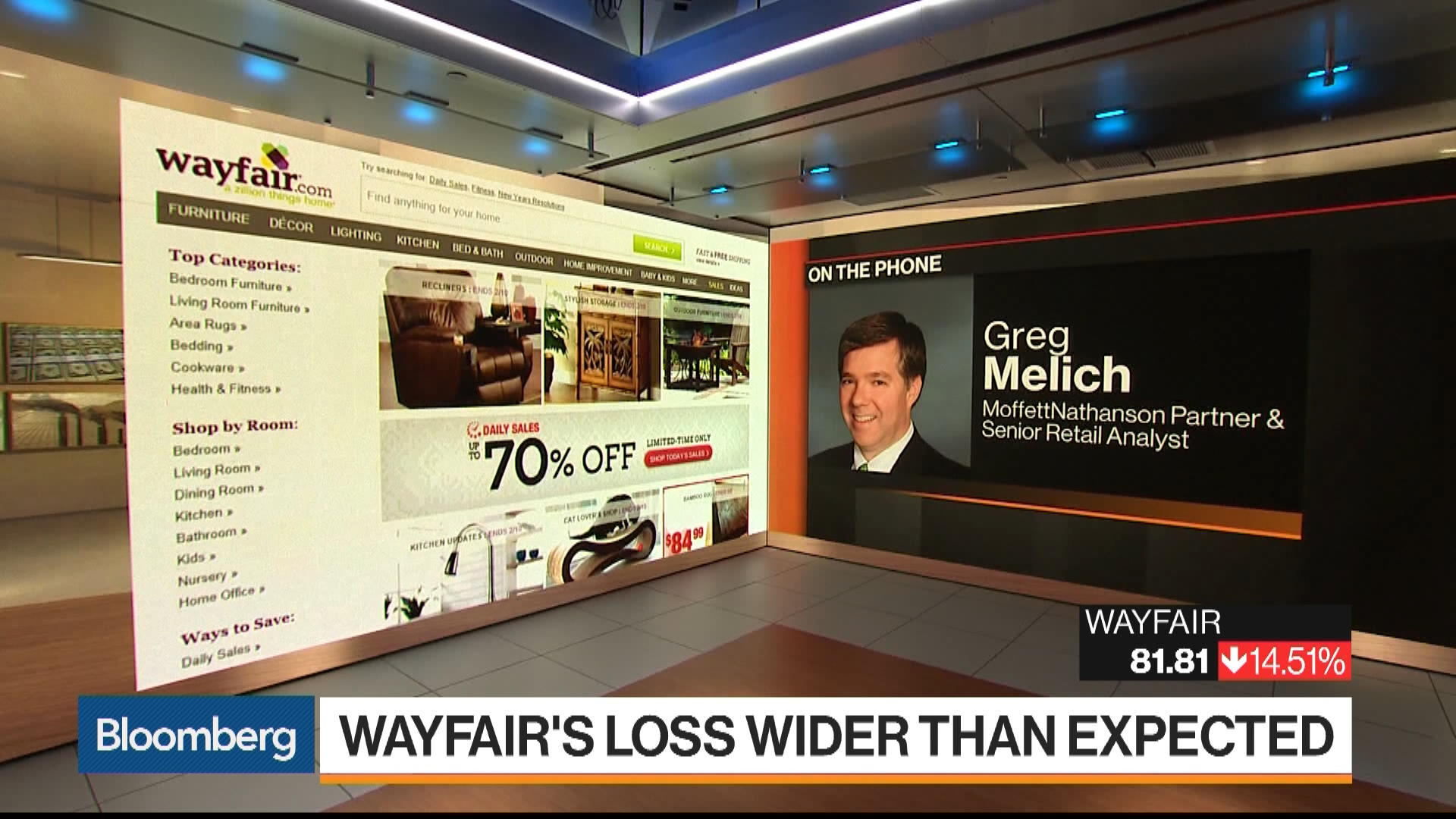 Wayfair Suffers Wider Than Expected Fourth Quarter Loss