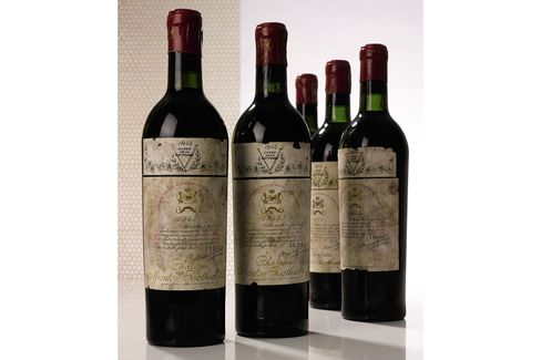 Ten bottles of 1945 Mouton Rothschild, estimated at $80,000 to $120,000
