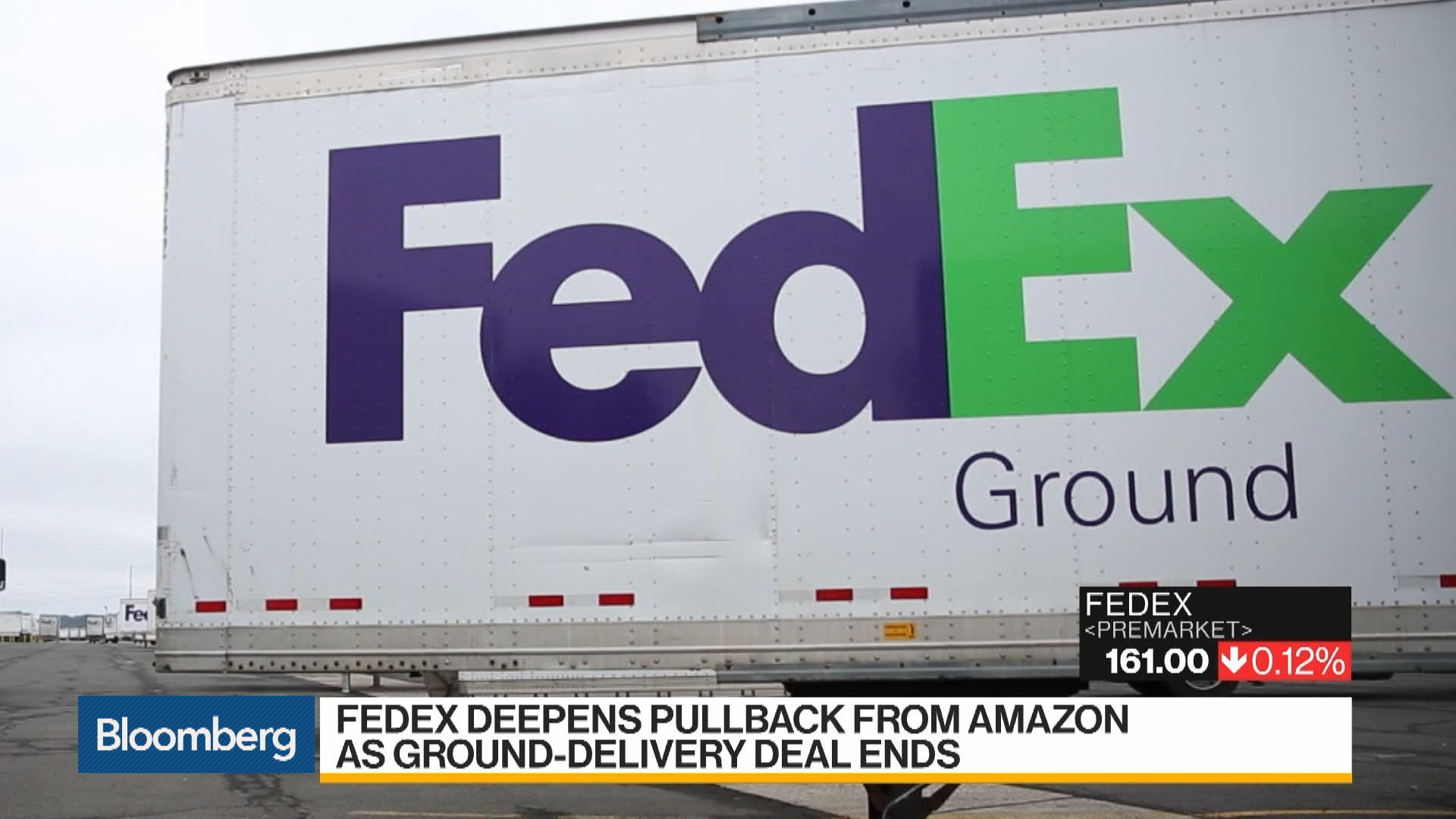 FedEx Retreats Further From Amazon as Ground-Delivery Deal Ends