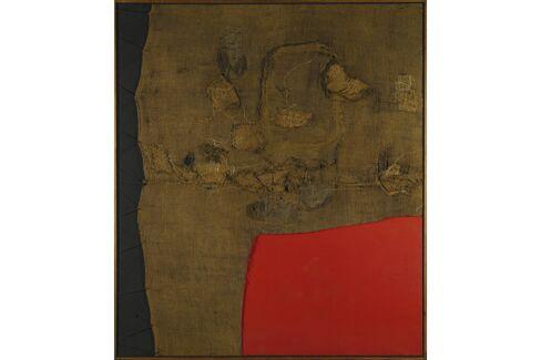 Alberto Burri, Sacco E Rosso, 1959