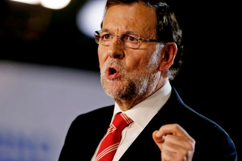 Spain's Prime Minister Mariano Rajoy Speaks At Barcelona Conference