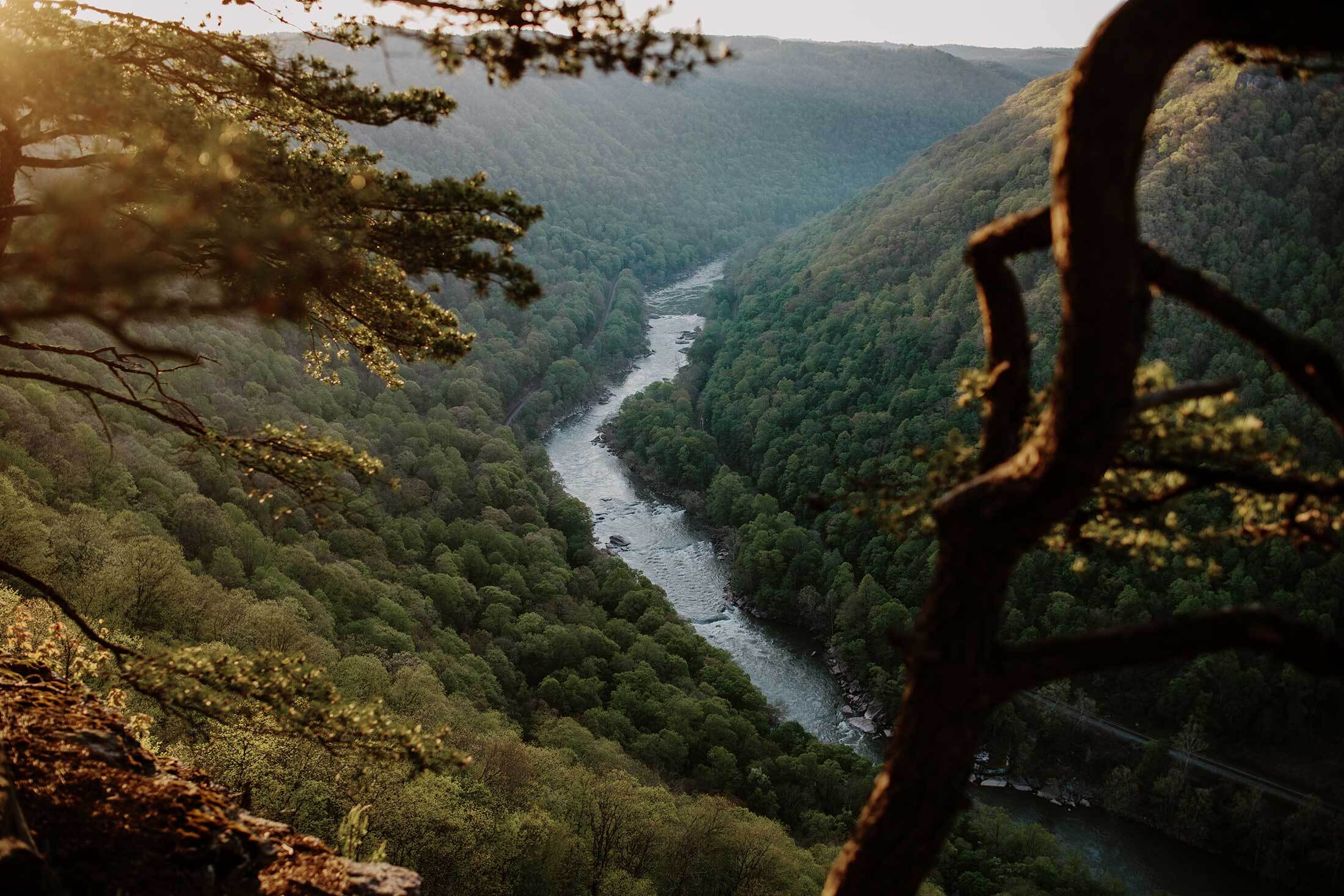 The New River Gorge in southern West Virginia. With the creation of a newnational park here, tourism in the region is expected to increase.