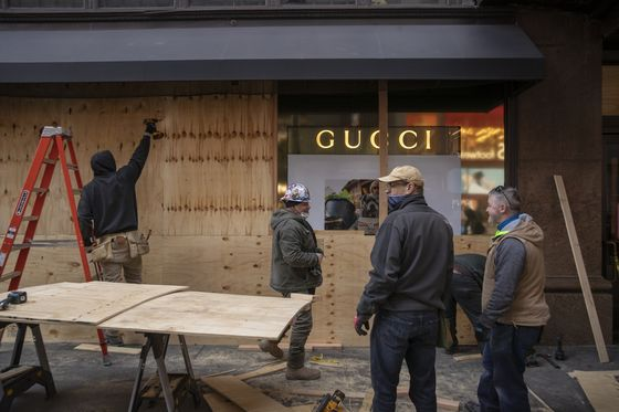 NYC, Washington Storefronts Boarded Up Ahead of Possible Unrest
