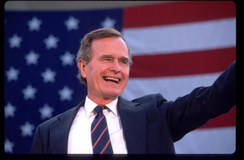 George H W Bush The Nice Guy Who Finished First Bloomberg