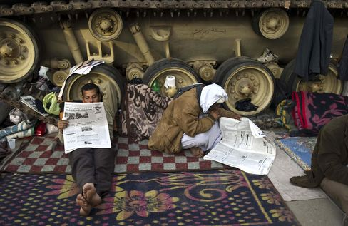 Tahrir Tent-Builders Set to Stay Until Mubarak Goes